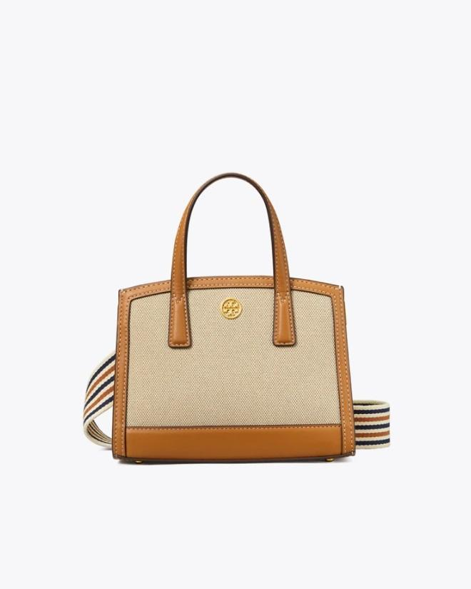 Tory Burch Walker Canvas Micro Satchel, Kobicha