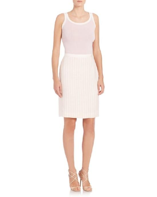 Akris punto Sleeveless Wool Shell, Ivory