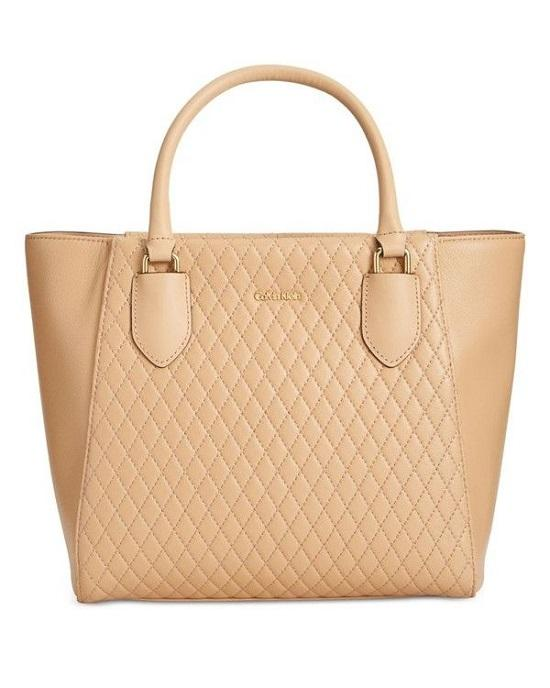 Calvin Klein Quilted Leather Shopper Nude