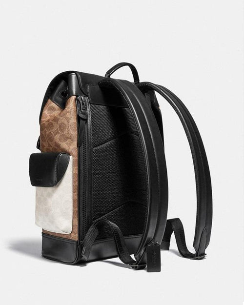 Coach Rivington Backpack In Colorblock Signature Canvas