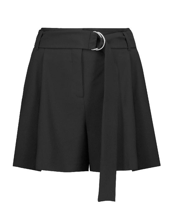 MICHAEL MICHAEL KORS Belted Pleated Cotton Shorts