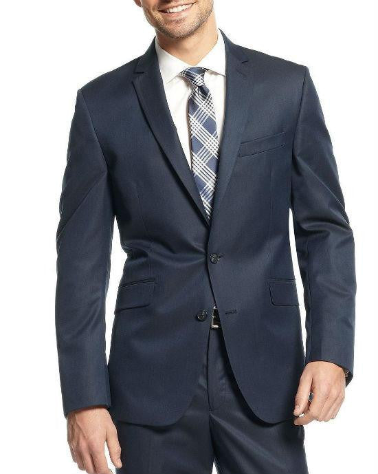 Sean John Blazer Wool Blend Blue Birdseye Classic Fit Sport Coat-SEAN JOHN-Fashionbarn shop
