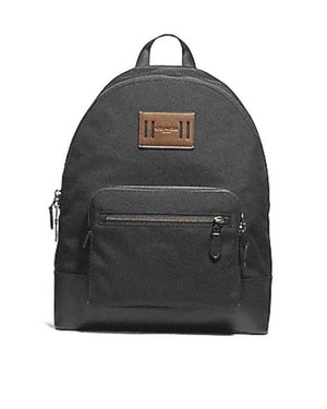 Coach Antique Nickel Black West Cordura Leather Backpack