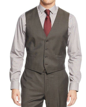 Calvin Klein Sharkskin Vested X Slim Fit 3 Piece Men's Suit-CALVIN KLEIN-Fashionbarn shop