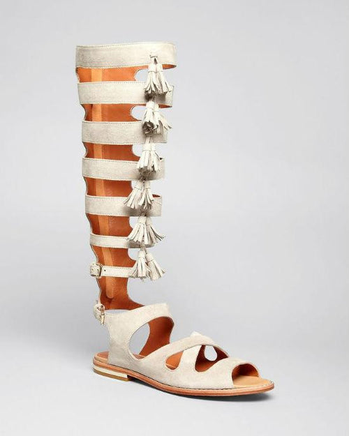 REBECCA MINKOFF Flat Gladiator Sandals - Summer Tall Fringe-REBECCA MINKOFF-Fashionbarn shop
