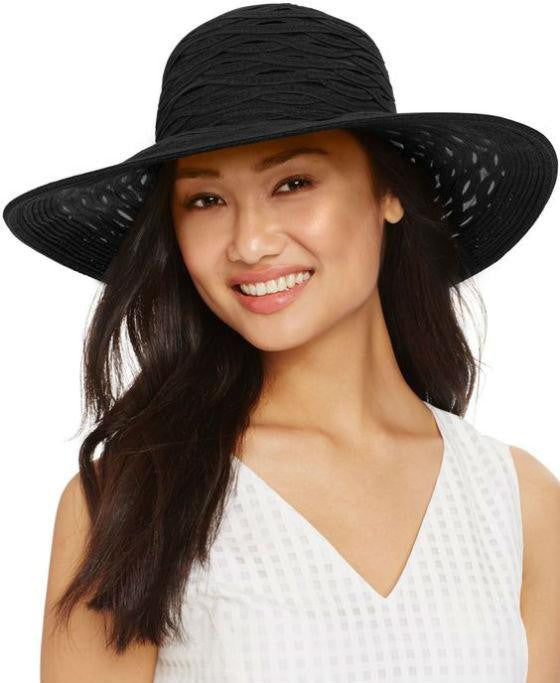 Nine West Sheer Floppy Hat Black - Fashionbarn shop - 1