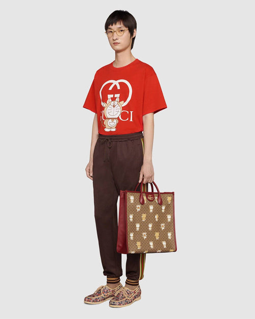 Gucci x Doraemon Oversize T-Shirt, Red