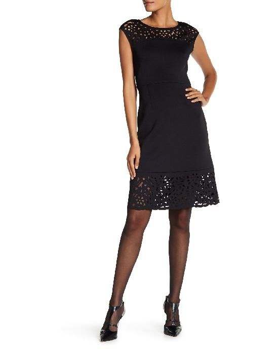 T TAHARI BLACK  ALENA DRESS