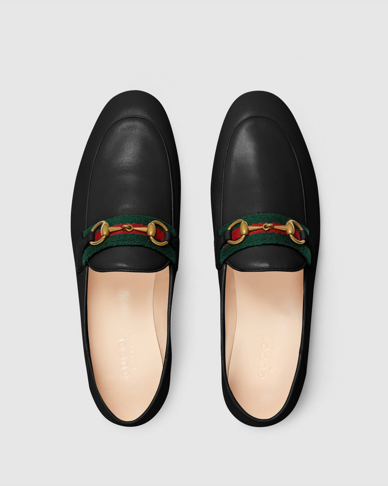 Gucci Women's Loafer With Web, Black