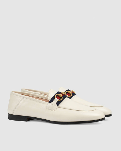 Gucci Women's Loafer With Web, White