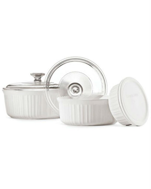 Corningware French White 6 Piece Bakeware Set-CORNINGWARE-Fashionbarn shop