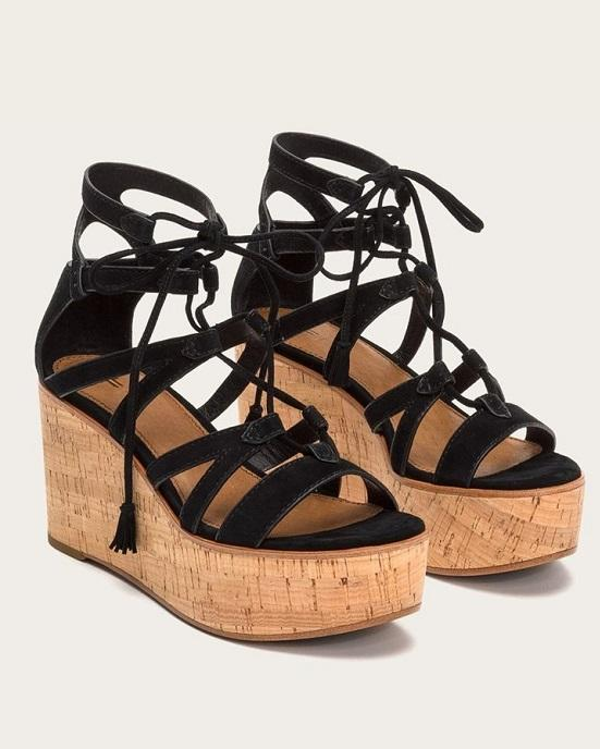 ba84ee1a393 FRYE Heather Gladiator Wedge