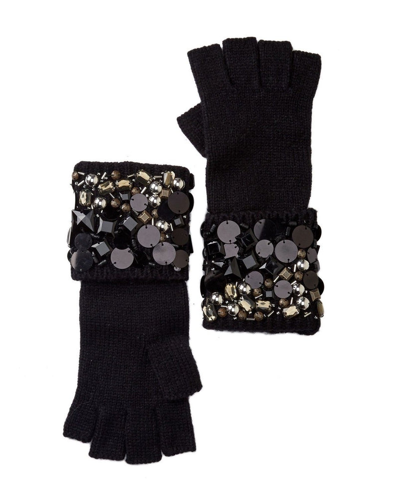 Michael Michael Kors Embellished Fingerless Gloves