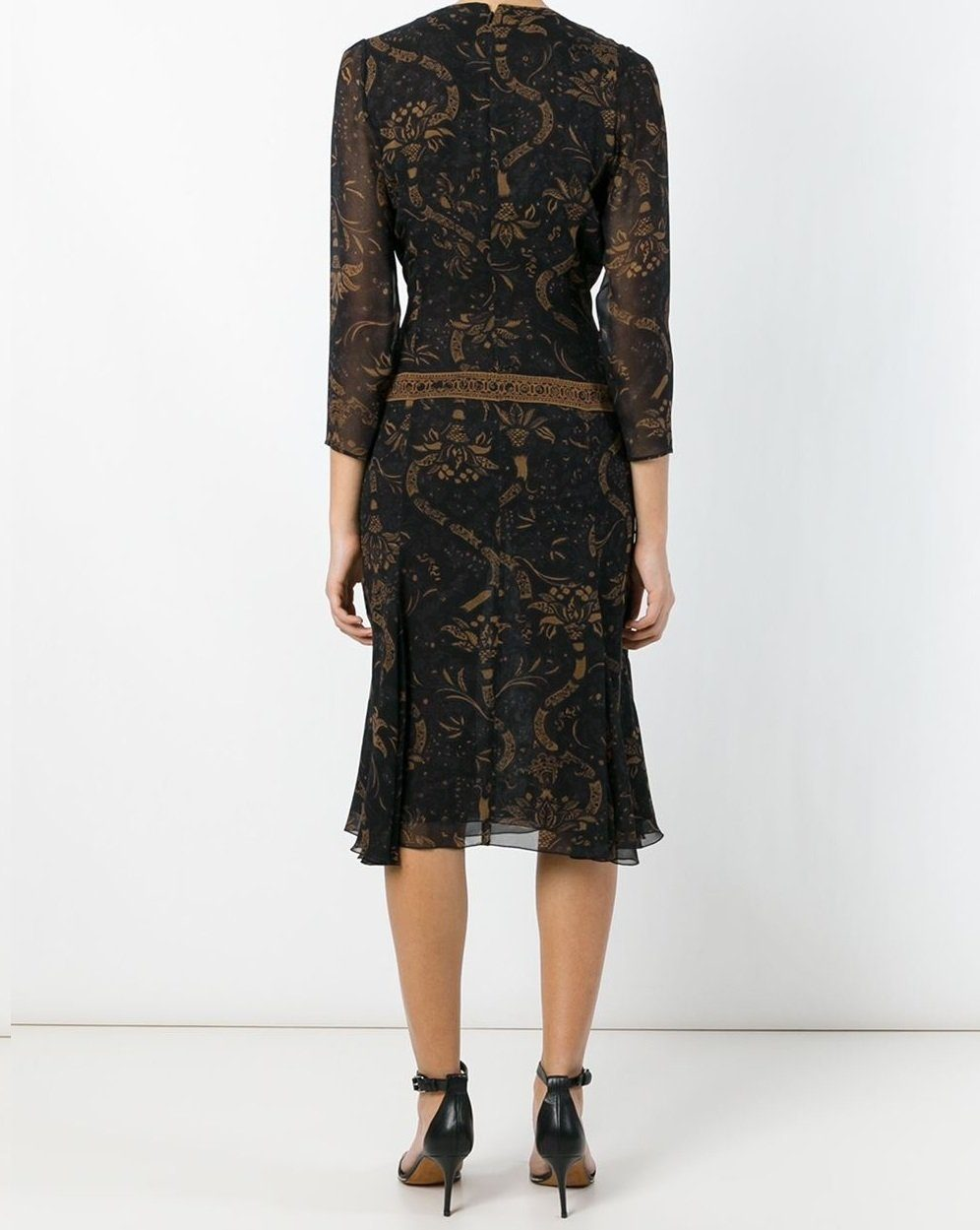 Barbara Bui Women's Black Paisley-Print Silk Mini Dress