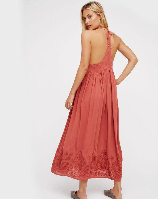 FREE PEOPLE Embroidered Elaine Maxi Slip