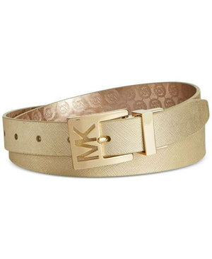 MICHAEL Michael Kors Metallic Saffiano to Jetset Logo Reversible Belt - Fashionbarn shop