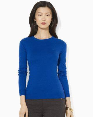 RALPH LAUREN ESQ SILK CASH SWEATER TOP-LAUREN RALPH LAUREN-Fashionbarn shop