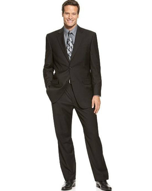 IZOD Two-Button Black Solid Suit-IZOD-Fashionbarn shop