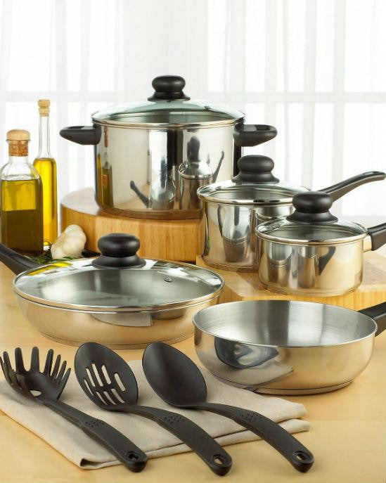 Tools of the Trade Stainless Steel 12-Pc. Cookware Set-TOOLS-Fashionbarn shop