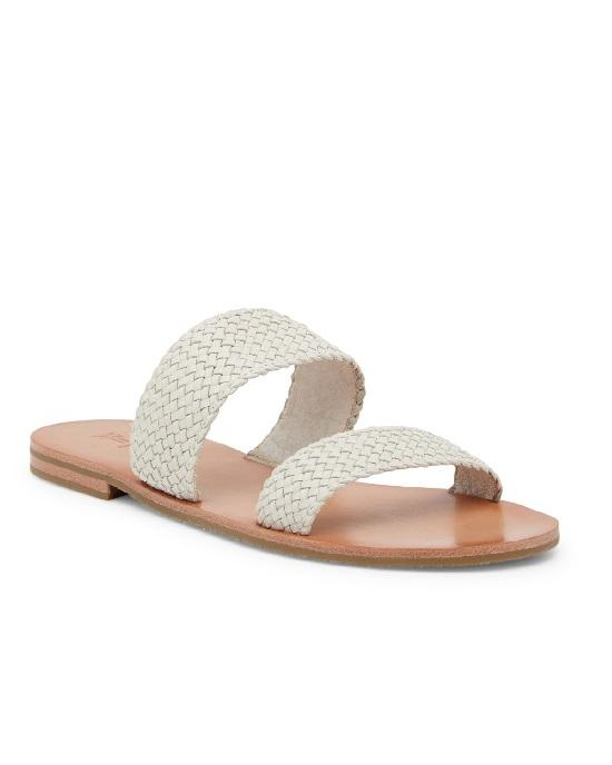 FRYE Ruth Woven Slide Sandals