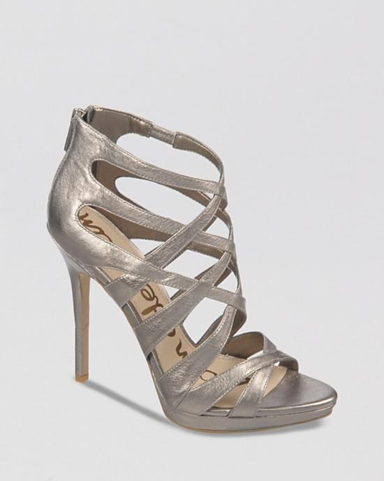 Sam Edelman Peep Toe Platform Evening Sandals - Ella High Heel