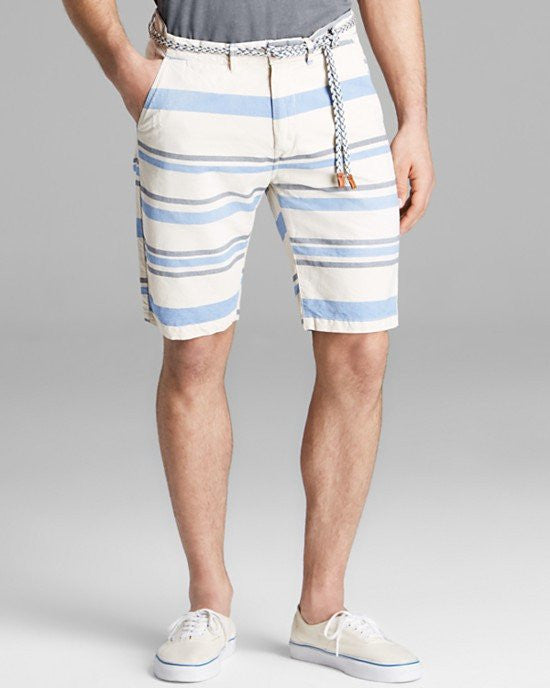 Scotch & Soda Striped Chino Shorts with Rope Belt-SCOTCH AND SODA-Fashionbarn shop