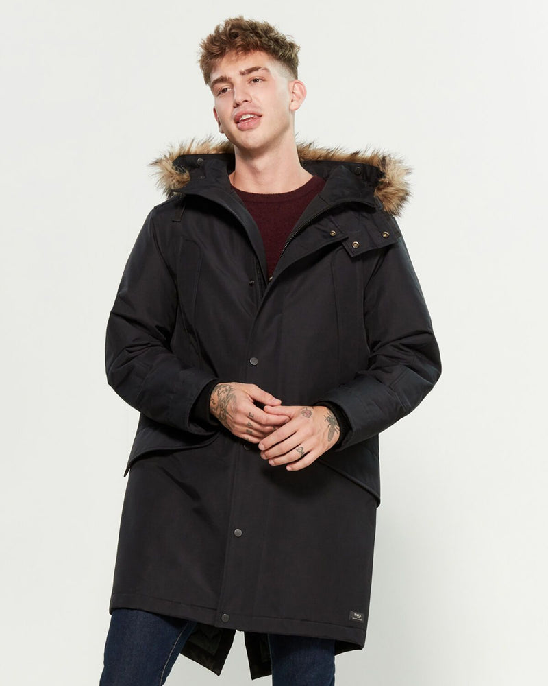 Parks London Jackson Faux Fur-Trimmed Parka
