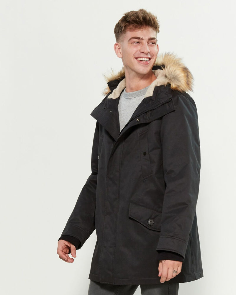 Parka London Compton Faux Fur-Trimmed Core Parka