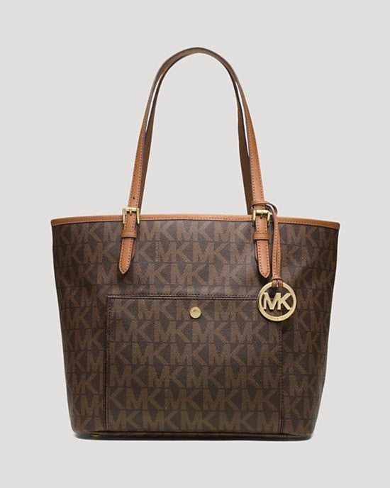 MICHAEL Michael Kors Tote - Logo Jet Set Large Snap Pocket-MICHAEL MICHAEL KORS-Fashionbarn shop
