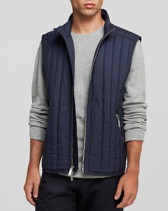 Kent and Curwen Vertical Quilted Vest-KENT AND CURWEN-Fashionbarn shop