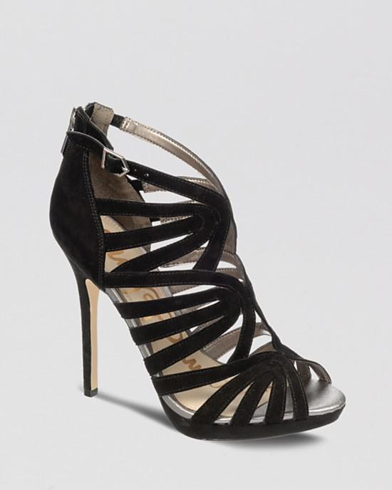 Sam Edelman Peep Toe Caged Platform Evening Sandals - Eve High Heel