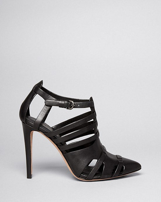 REBECCA MINKOFF Pointed Toe Cutout Platform Booties - Randi High Heel-REBECCA MINKOFF-Fashionbarn shop