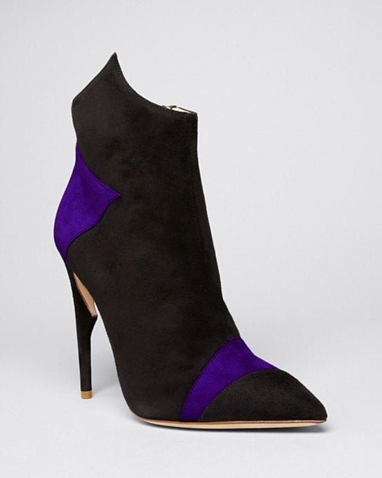 Jerome C. Rousseau Purple Pointed Toe Booties - Lugosi High Heel-JEROME ROUSSEAU-Fashionbarn shop