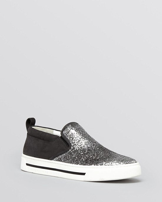 MARC BY MARC JACOBSFlat Slip On Sneakers - Space Glitter-MARC BY MARC JACOBS-Fashionbarn shop