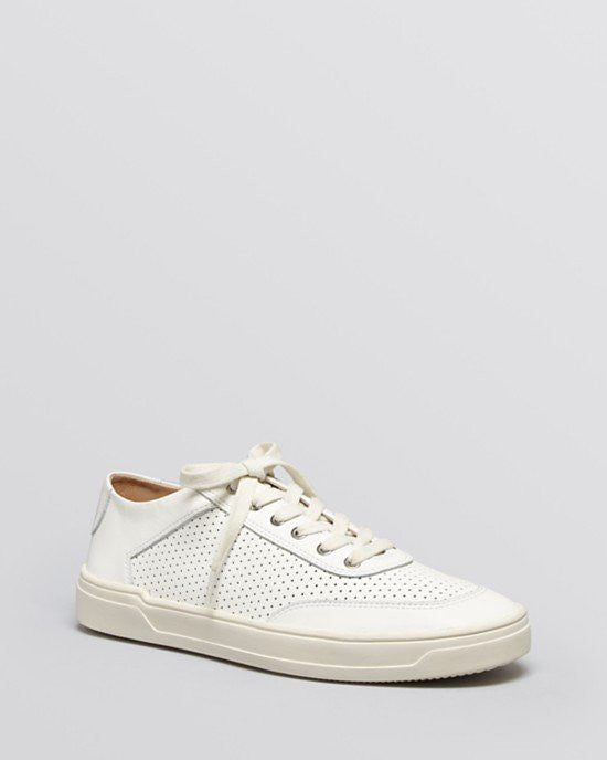 VIA SPIGA Flat Lace Up Sneakers - Gitana Perforated-VIA SPIGA-Fashionbarn shop