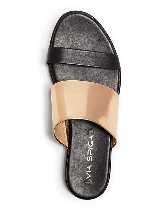 VIA SPIGA Carita Flat Slide Sandals-VIA SPIGA-Fashionbarn shop
