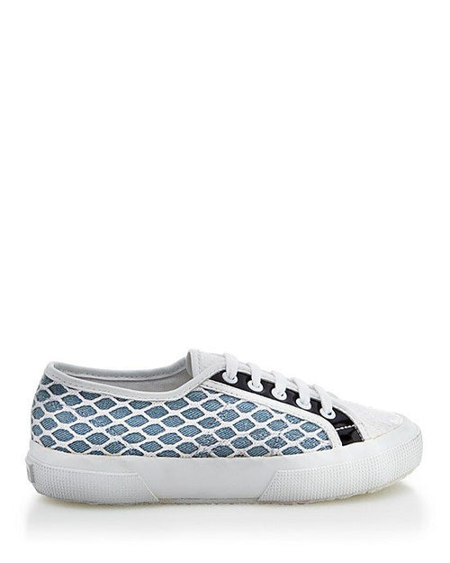 SUPERGA Flat Lace Up Sneakers - 2750 Net Overlay Snake-SUPERGA-Fashionbarn shop