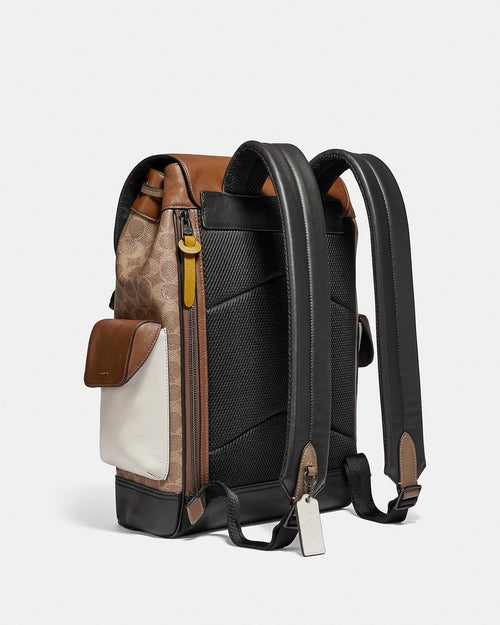 Coach Rivington Signature Coated Canvas & Leather Backpack
