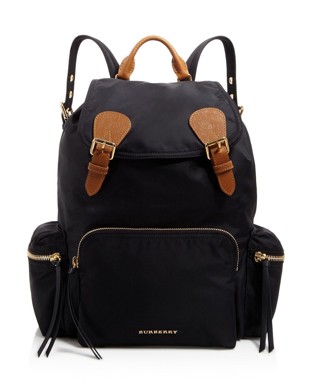 Burberry Medium Rucksack Runway Nylon Backpack, Black
