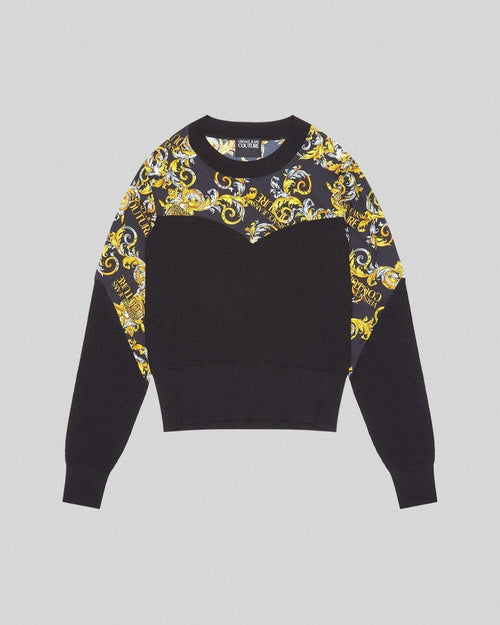 Versace Jeans Couture Logo Baroque Accent Jumper