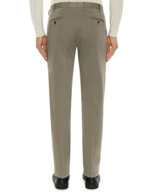 Canali Burnt Sienna Cotton 5-Pocket Pants