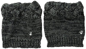 BEARPAW Cable Knit Boot Topper - Charcoal