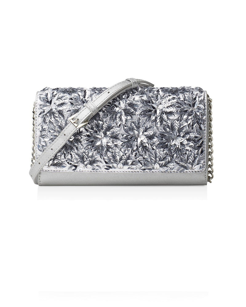 MICHAEL Michael Kors Floral Burst Wallet On a Chain