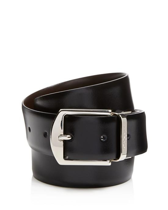 Canali Reversible Calfskin Leather Belt