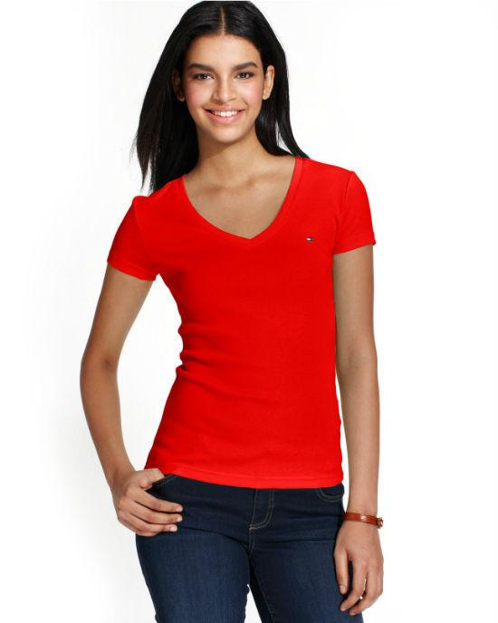Tommy Hilfiger Short-Sleeve V-Neck Tee