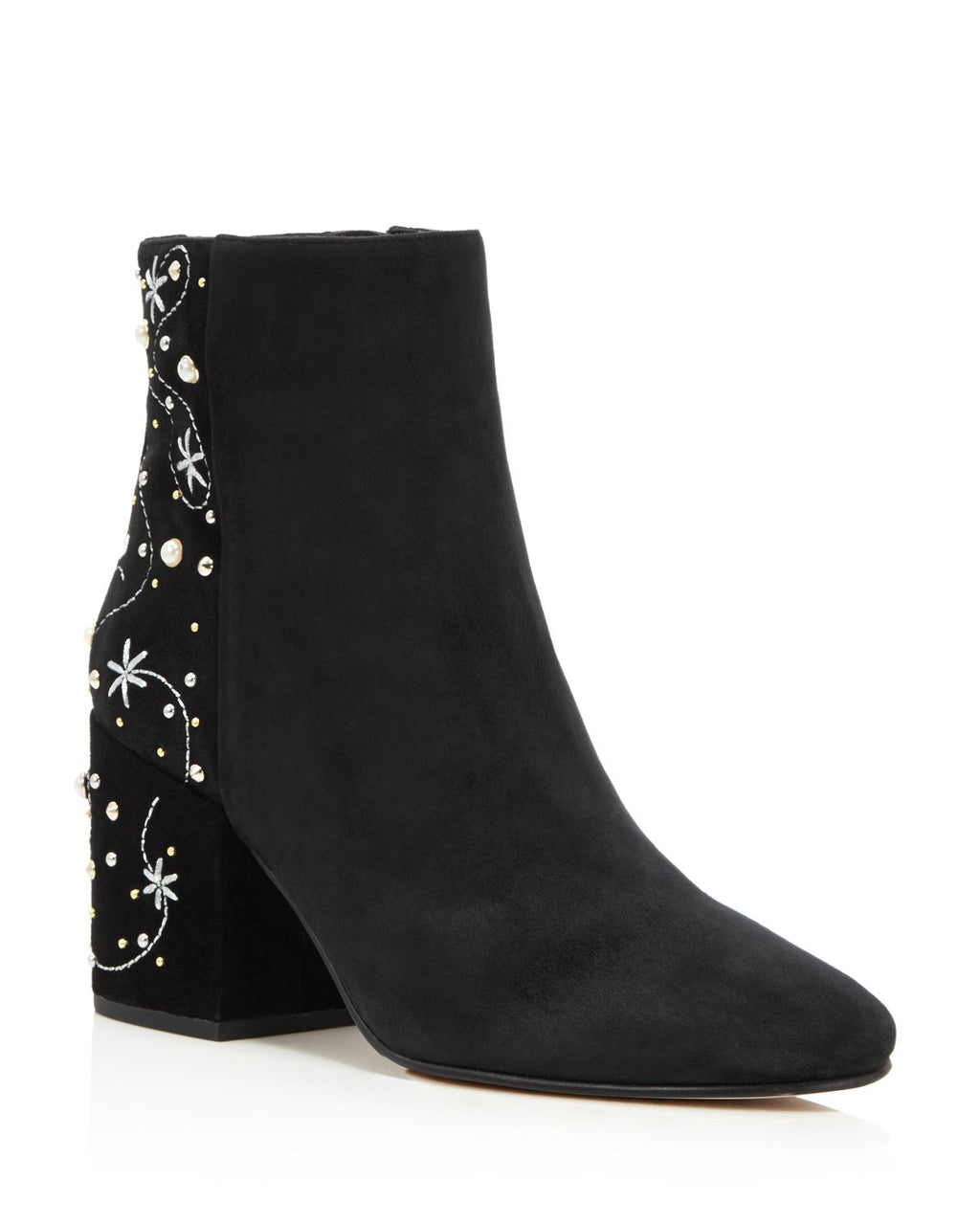 Sam Edelman Women's Taft Embroidered Pearl Stud Booties