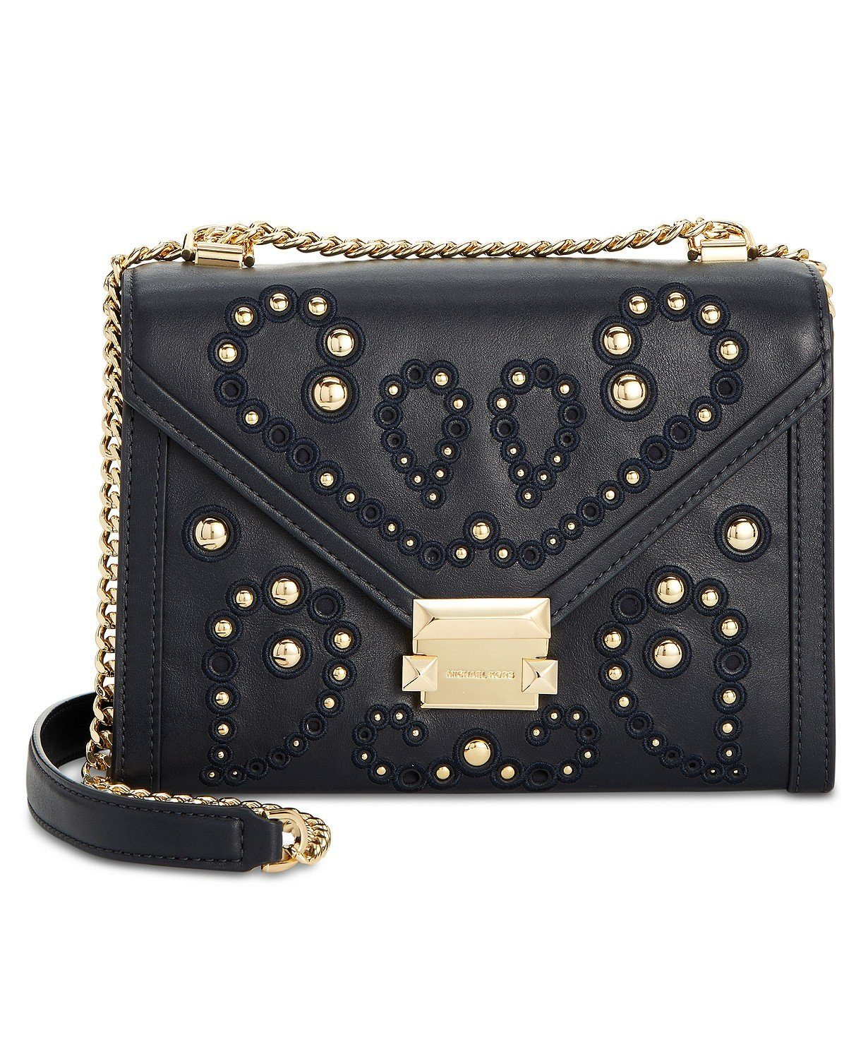 3e1fabbbdcb9 MICHAEL Michael Kors Whitney Studded Shoulder Bag