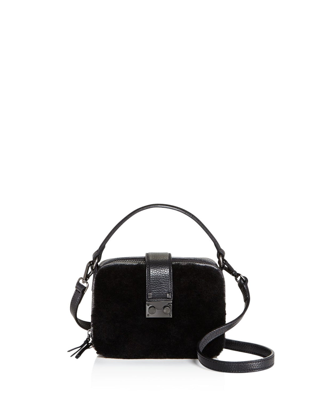AQUA Tada Square Shearling Crossbody