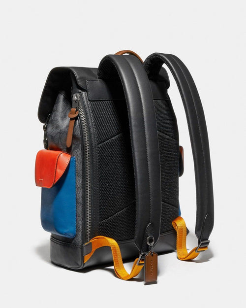 Coach Rivington Backpack In Colorblock Signature Canvas With Coach Patch