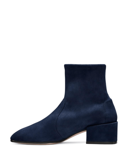 Stuart Weitzman The Allie Velvet Bootie, Blue